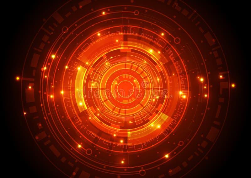 Vectorillustratiehi-tech digitaal technologieconcept, abstracte achtergrond royalty-vrije illustratie