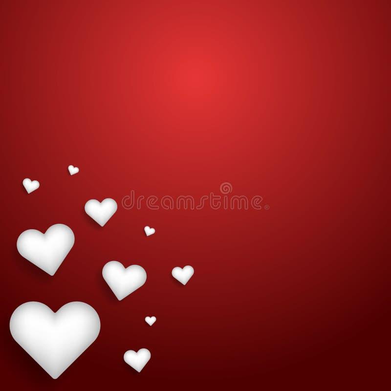Vectorillustratieontwerp van de Gelukkige Dag van Valentine ` s met harten en liefde in rood thema vector illustratie
