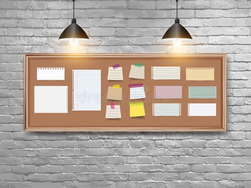 Vectorillustratieraad met houten kader stock illustratie