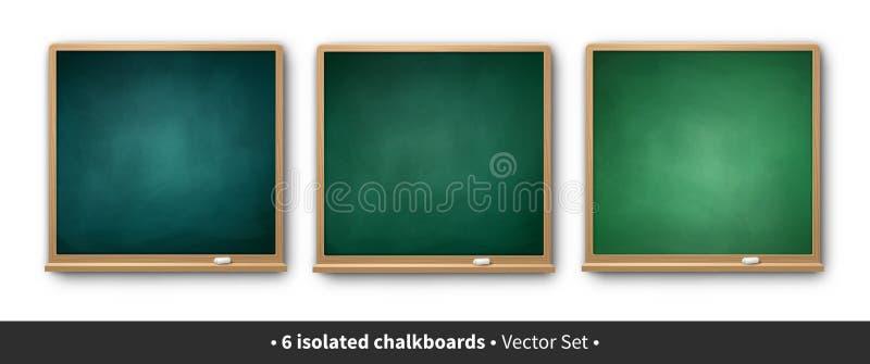 Vectorillustratiereeks groene vierkante borden stock illustratie