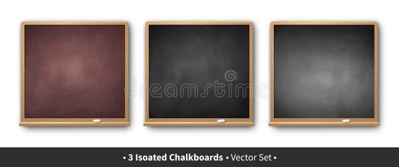 Vectorillustratiereeks vierkante borden stock illustratie