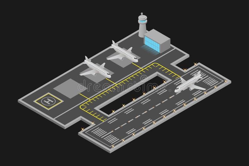 vectorillustraties en luchthaven stock illustratie