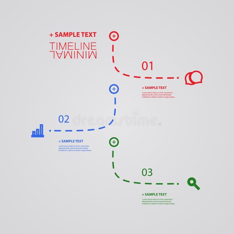 Vectorinfographic-Chronologie - het Malplaatje van het Rapportontwerp stock illustratie