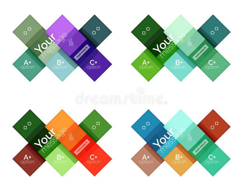 Vectorinfographicsmalplaatjes van kleurenstrepen vector illustratie