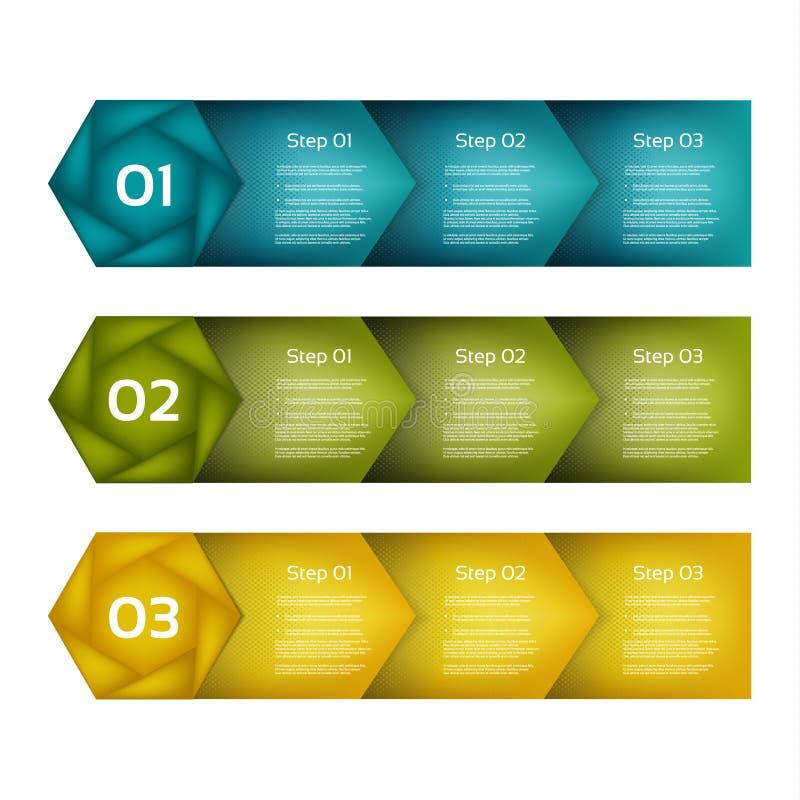 Vectorinfographicsreeks van pijlenlijnen Malplaatje voor de groeidiagram, grafiek, presentatie, grafiek Bedrijfs succesvol opstar vector illustratie