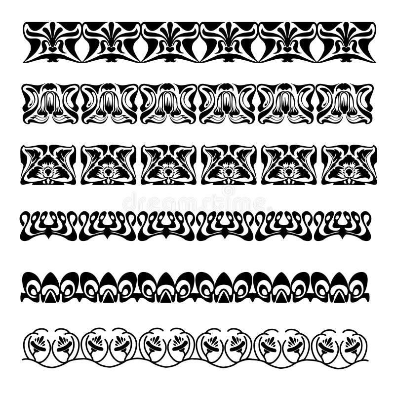 Vectorinstallatieornament royalty-vrije illustratie
