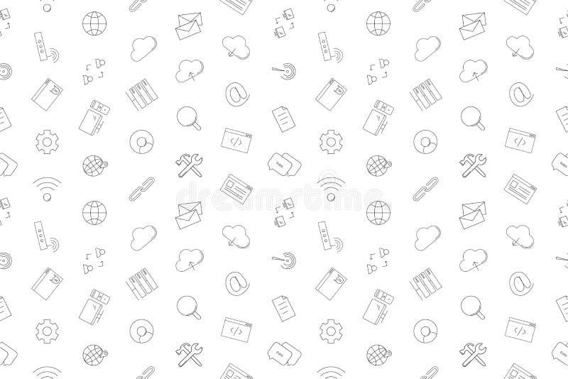 Vectorinternet-patroon De naadloze achtergrond van Internet royalty-vrije illustratie