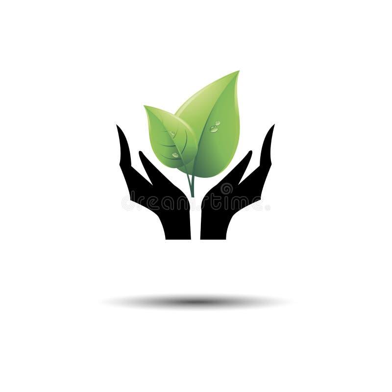 Vectorinzameling van ecologische symbolen en tekens symboolwijfje stock illustratie