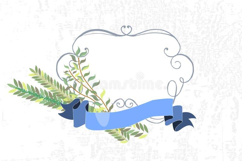 Vectorinzameling van etiketten en elementen voor Sukkot (Joodse Trad royalty-vrije illustratie