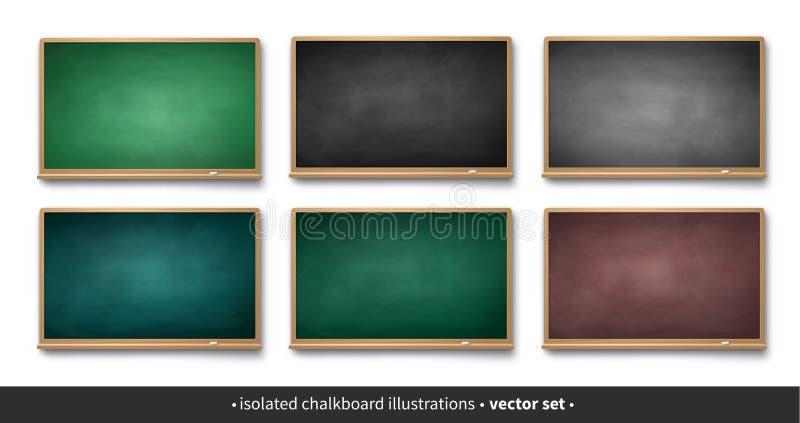 Vectorinzameling van horizontale borden vector illustratie
