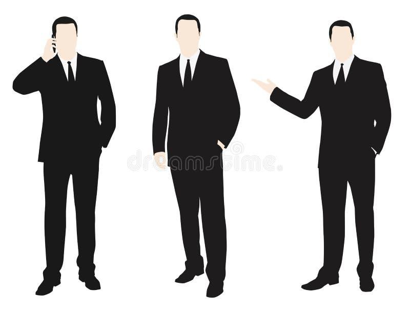 Vectorinzameling van mensen gekleed in een kostuum vector illustratie