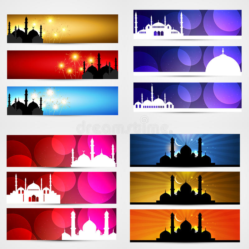 Vectorinzameling van ramadan de bannerillustratie van het kareemfestival