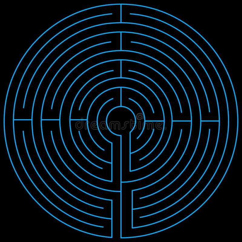 Vectorisé bleu de labyrinthe photographie stock