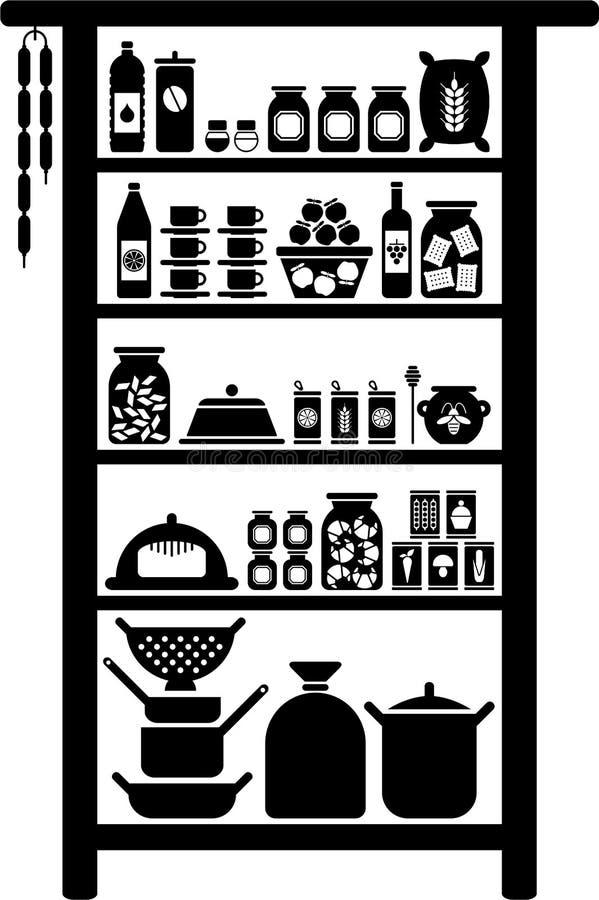 vectorized的餐具室 向量例证