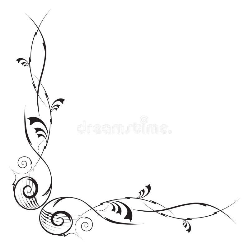 vectorized угловойой конструкции флористическое бесплатная иллюстрация