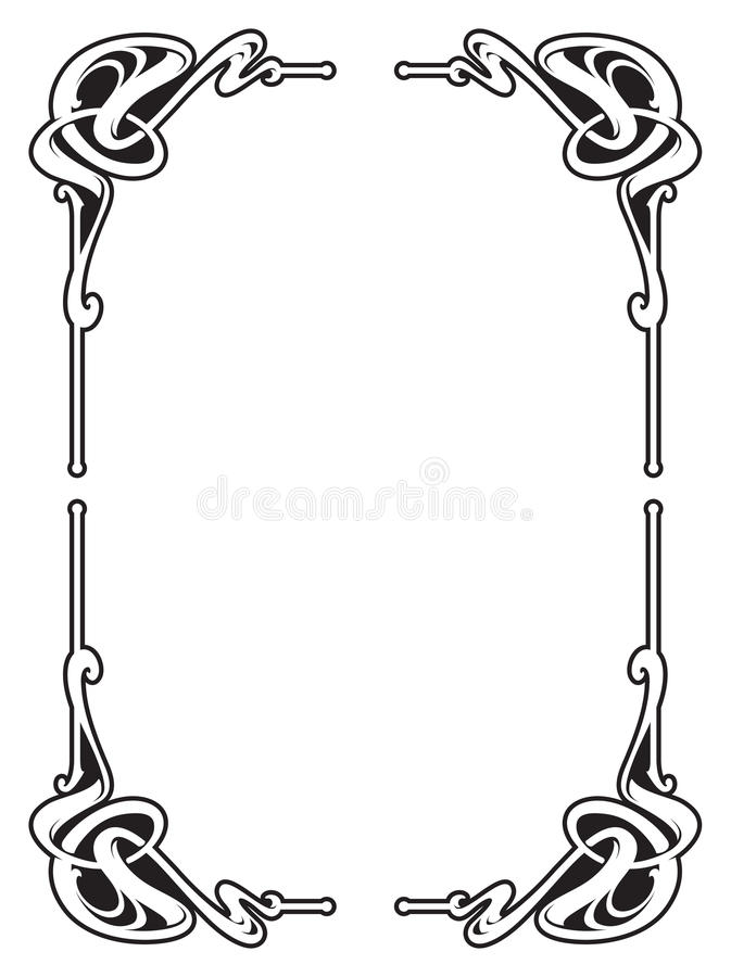 Vectorized Art Nouveau frame Design. stock illustration