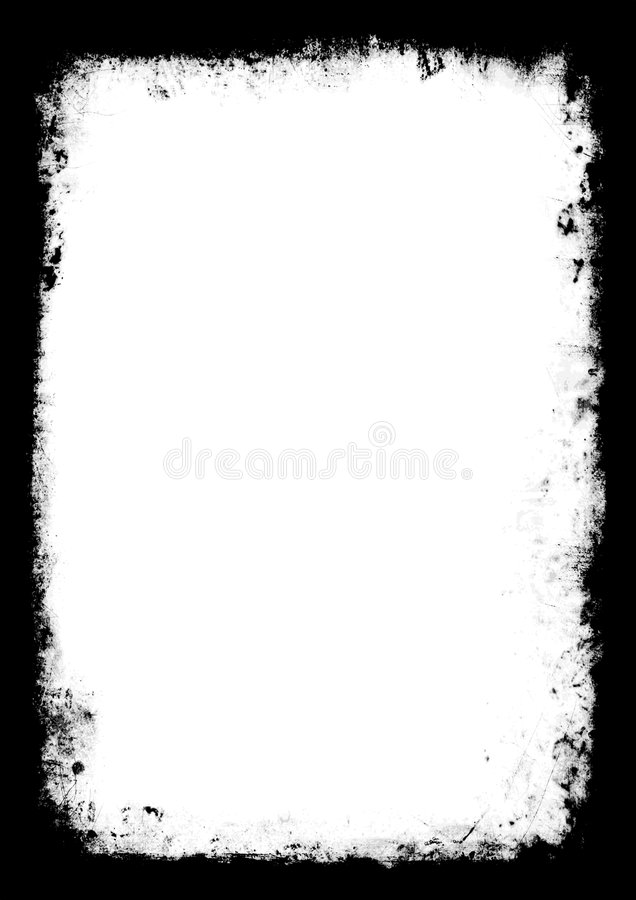 Vectorized grens Grunge royalty-vrije illustratie