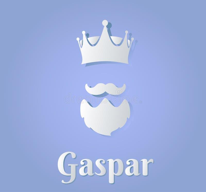 Vectorized illustration of l magician king gaspar vector illustration
