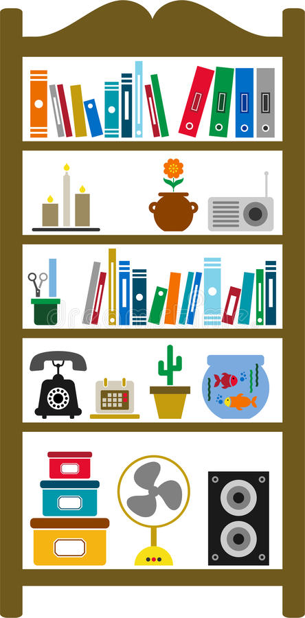 Download Vectorized shelving stock vector. Illustration of room - 23166866