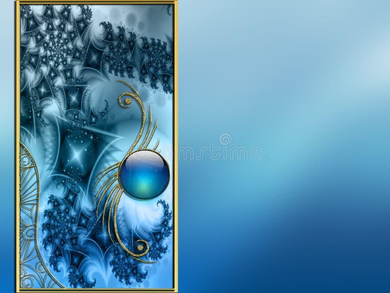 Vectorized Van de Achtergrond foto fractal lay-outontwerp stock illustratie