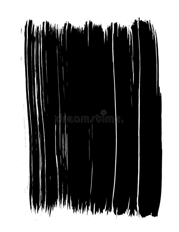 Vectorized Zwarte Slagen van de Verf royalty-vrije illustratie
