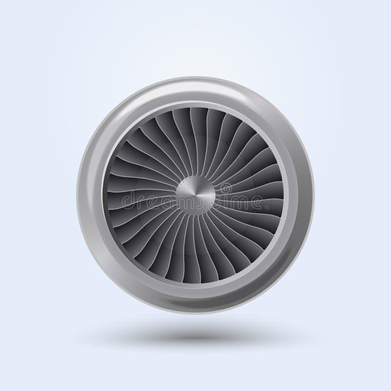 Vectorjet engine stock illustratie