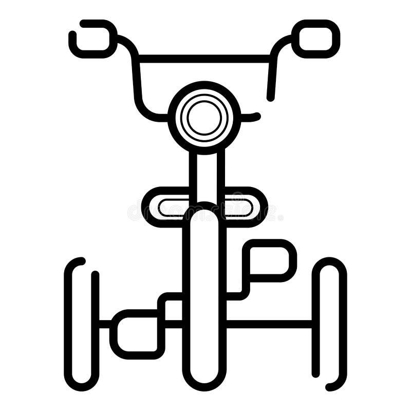 Vectorjonge geitjespictogram met drie wielen stock illustratie