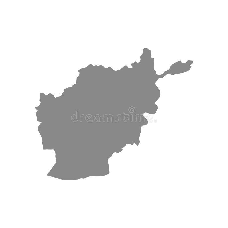 Vectorkaart - de vector van Afghanistan vector illustratie