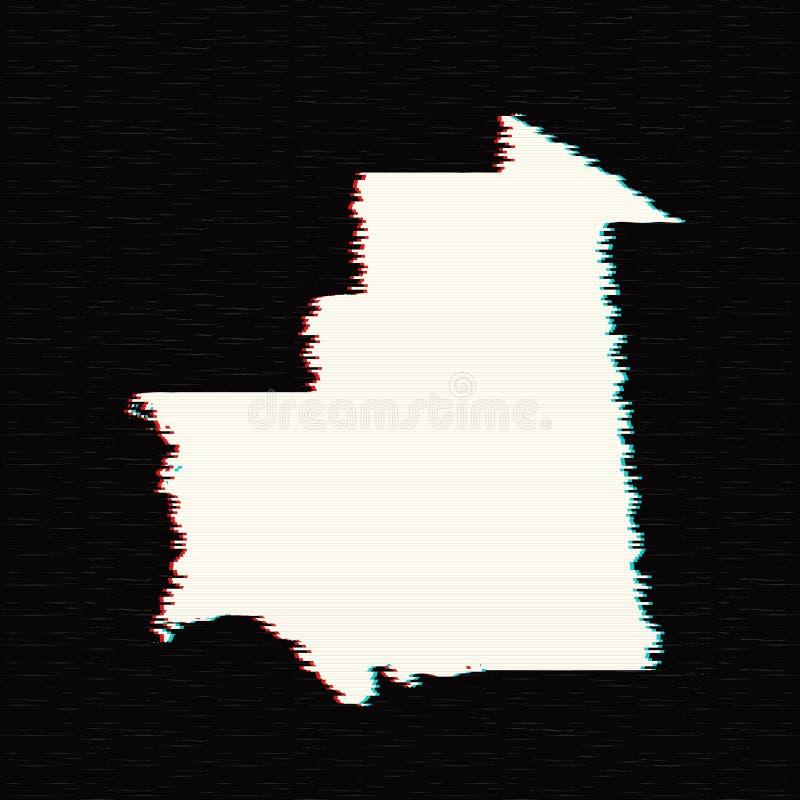 Vectorkaart Mauretanië royalty-vrije illustratie