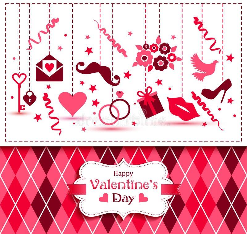 Vectorkaart van Valentine Day vector illustratie