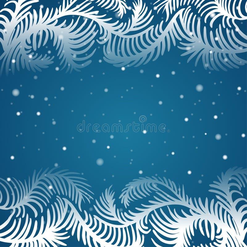 Vectorkader van ijzig patroon stock illustratie