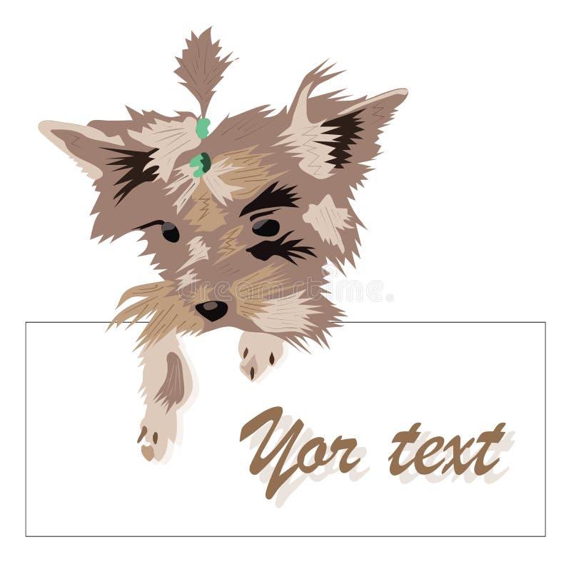 Vectorkader voor etiketten met een hond vector illustratie