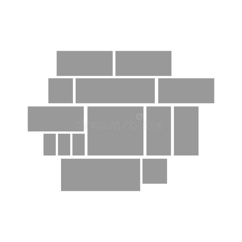 Vectorkader voor foto's en beelden, fotocollage, fotoraadsel De kaders van de malplaatjescollage voor foto of illustratie vector illustratie