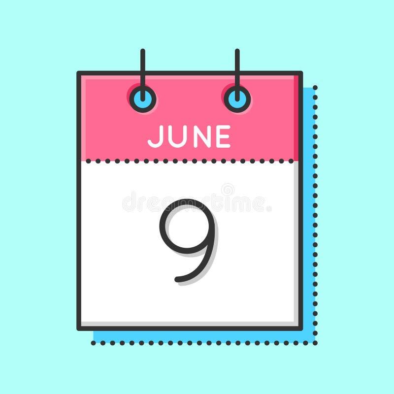Vectorkalenderpictogram stock illustratie