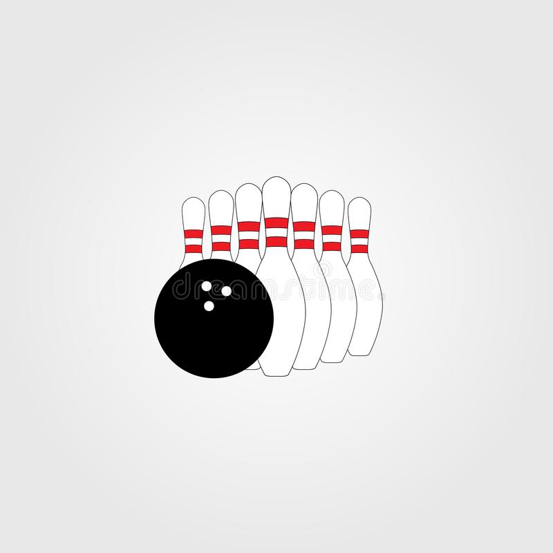 Vectorkegelenspelden en de Reeks van de Kegelenbal royalty-vrije illustratie