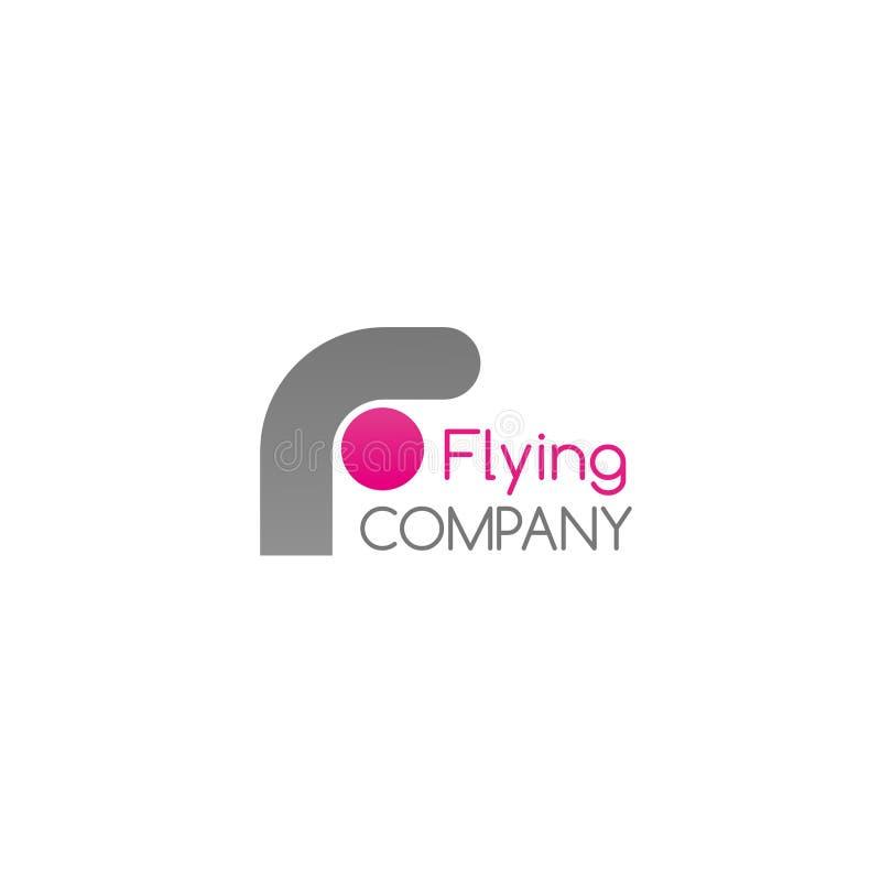 Vectorkenteken voor vliegend bedrijf stock illustratie