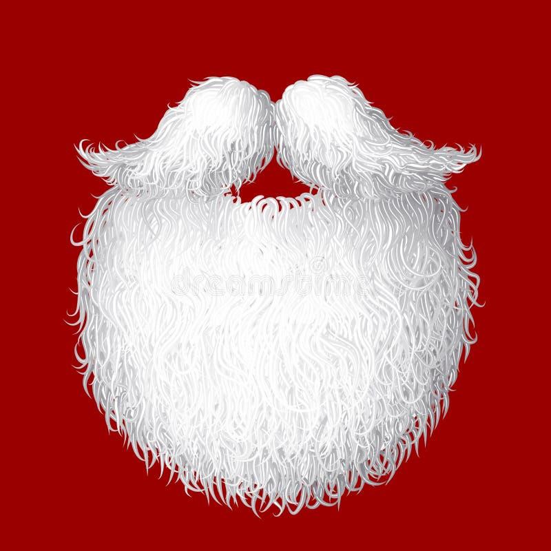 Vectorkerstman` s baard stock illustratie
