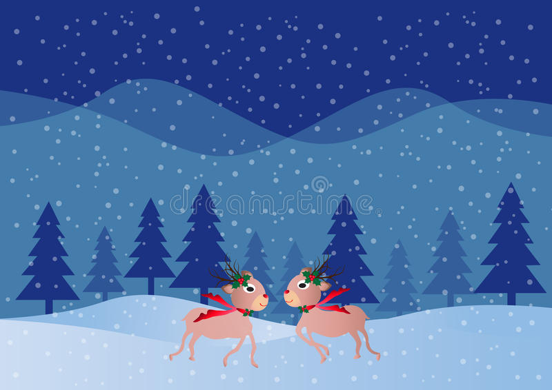 Vectorkerstmisherten stock illustratie