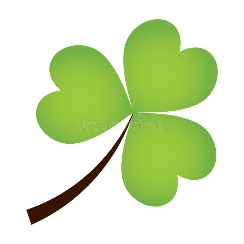 Vectorklaverblad op witte Achtergrond Ierse klaver vectorillustratie De klaver is een symbool voor St Patrick Dag stock illustratie