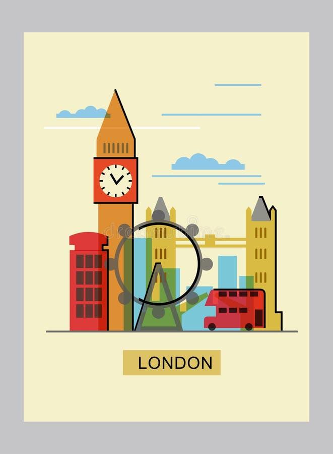 Vectorkleur Londen royalty-vrije illustratie