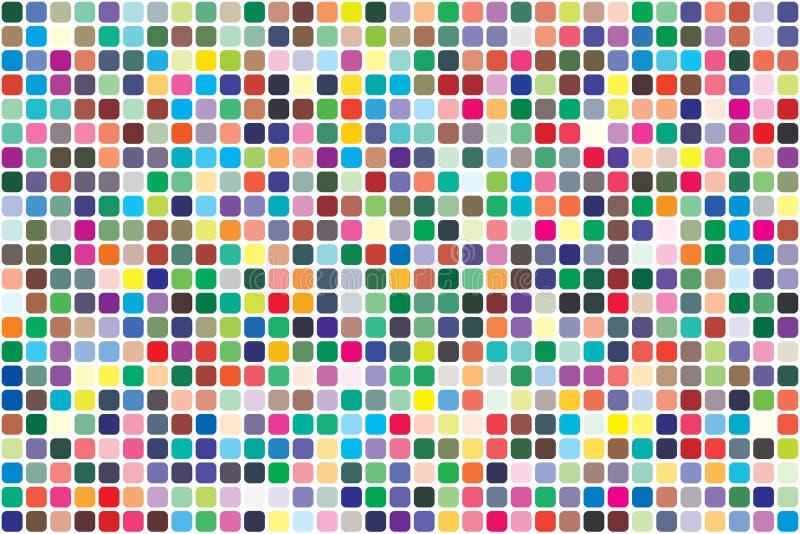 Vectorkleurenpalet 726 verschillende kleuren stock illustratie