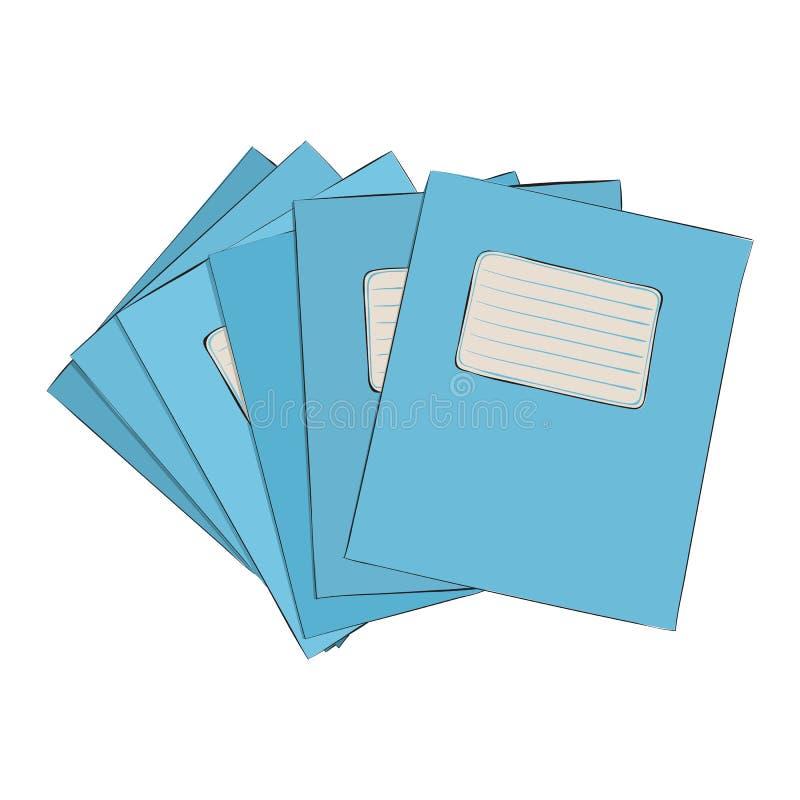 Vectorkleurenschets van oefenboeken vector illustratie