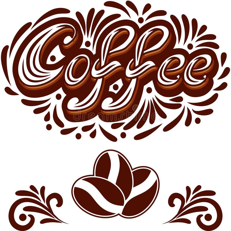 Vectorkoffiepictogram of embleem voor cafetaria of het ontwerp van het koffiemenu vector illustratie