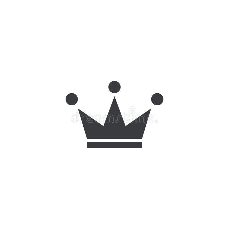 Vectorkroonpictogram Element voor ontwerp Embleemmalplaatje royalty-vrije illustratie