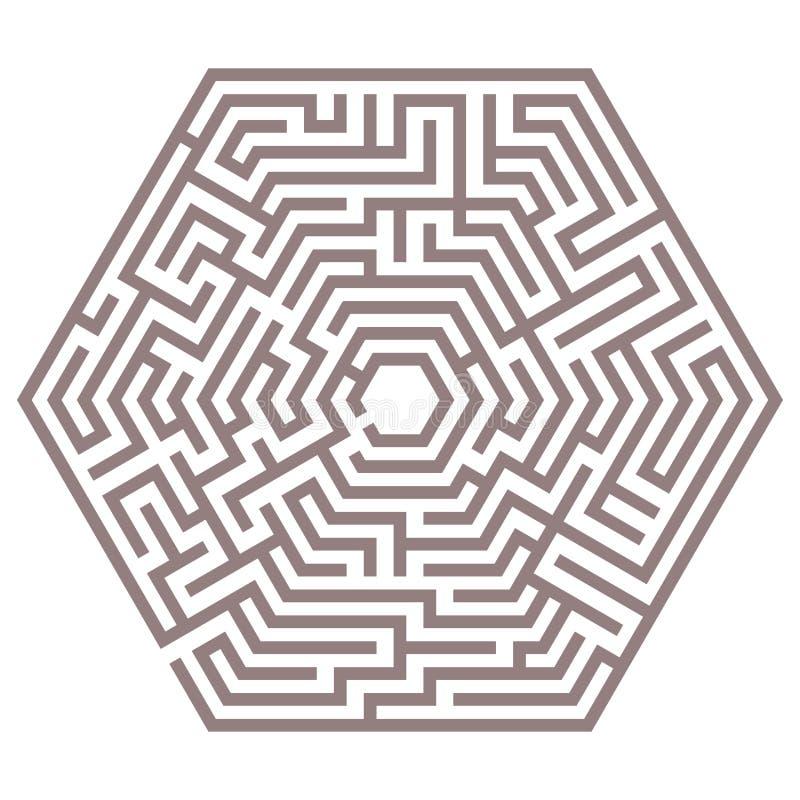 Vectorlabyrint stock illustratie