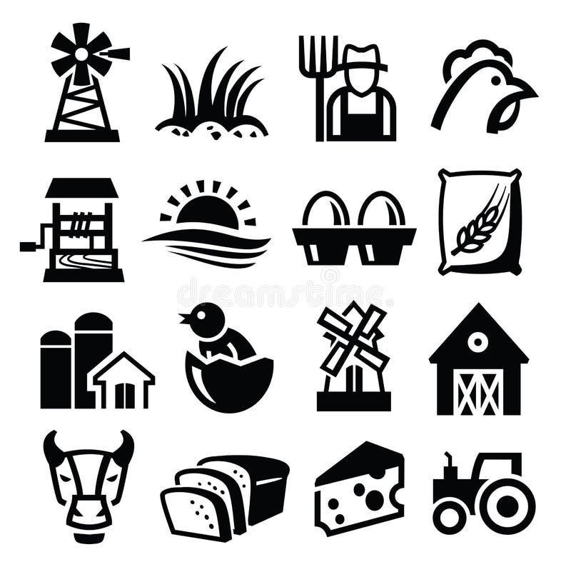 Vectorlandbouwbedrijf stock illustratie
