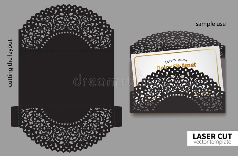 Vectorlaserknipsel royalty-vrije illustratie
