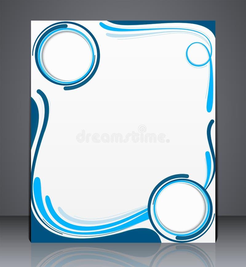 Vectorlay-out bedrijfsbrochure, tijdschriftdekking, Web, of de collectieve reclame van het ontwerpmalplaatje met golven vector illustratie