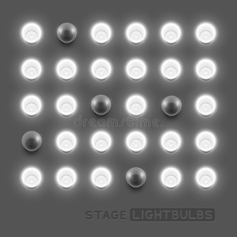 Vectorlightbulbs stock illustratie