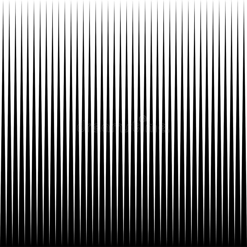 Vectorlijnen naadloze horizontaal herhaalt patroon Zwart-witte achtergrond royalty-vrije illustratie